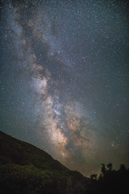 night, galaxy, milky way, stars