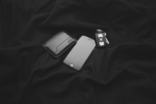 Free stock photo of black-and-white, apple, iphone, smartphone