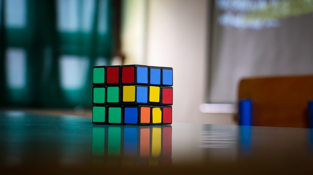 Free stock photo of table, colorful, object, cube
