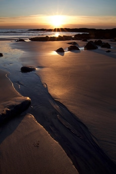 Bodies of Water Surrounding Sand
