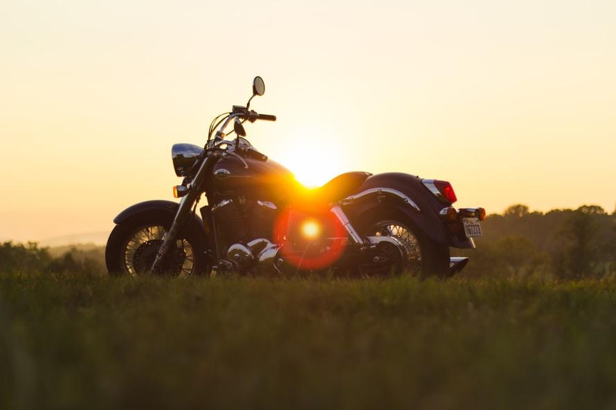 sunset, motorbike, motorcycle