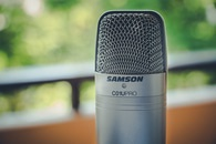 Gray Samson C01upro Microphone in Close View Image