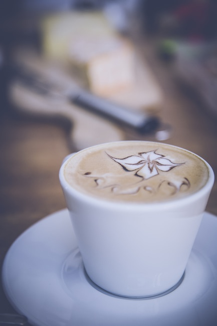Coffee on White Ceramic Cup
