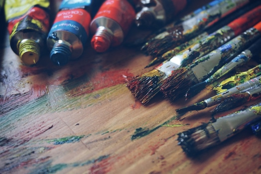 Free stock photo of art, brush, painting, colorful
