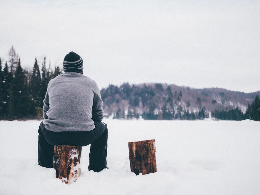 frío, hombre, persona