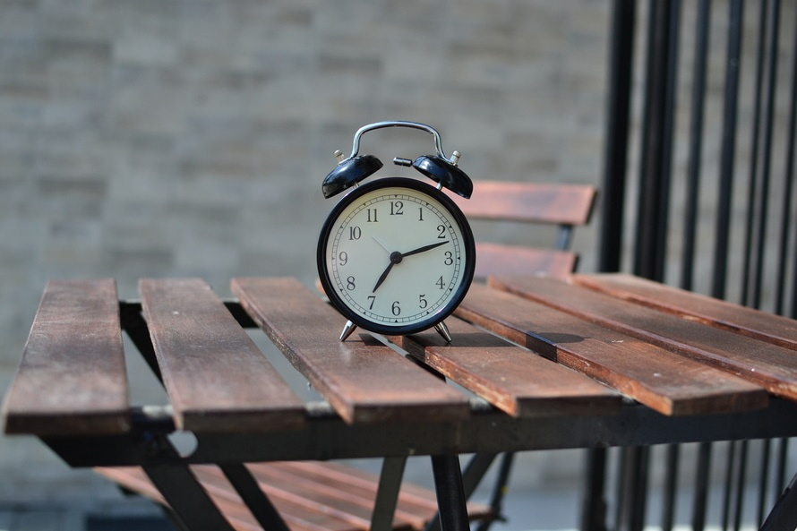 table, time, chair