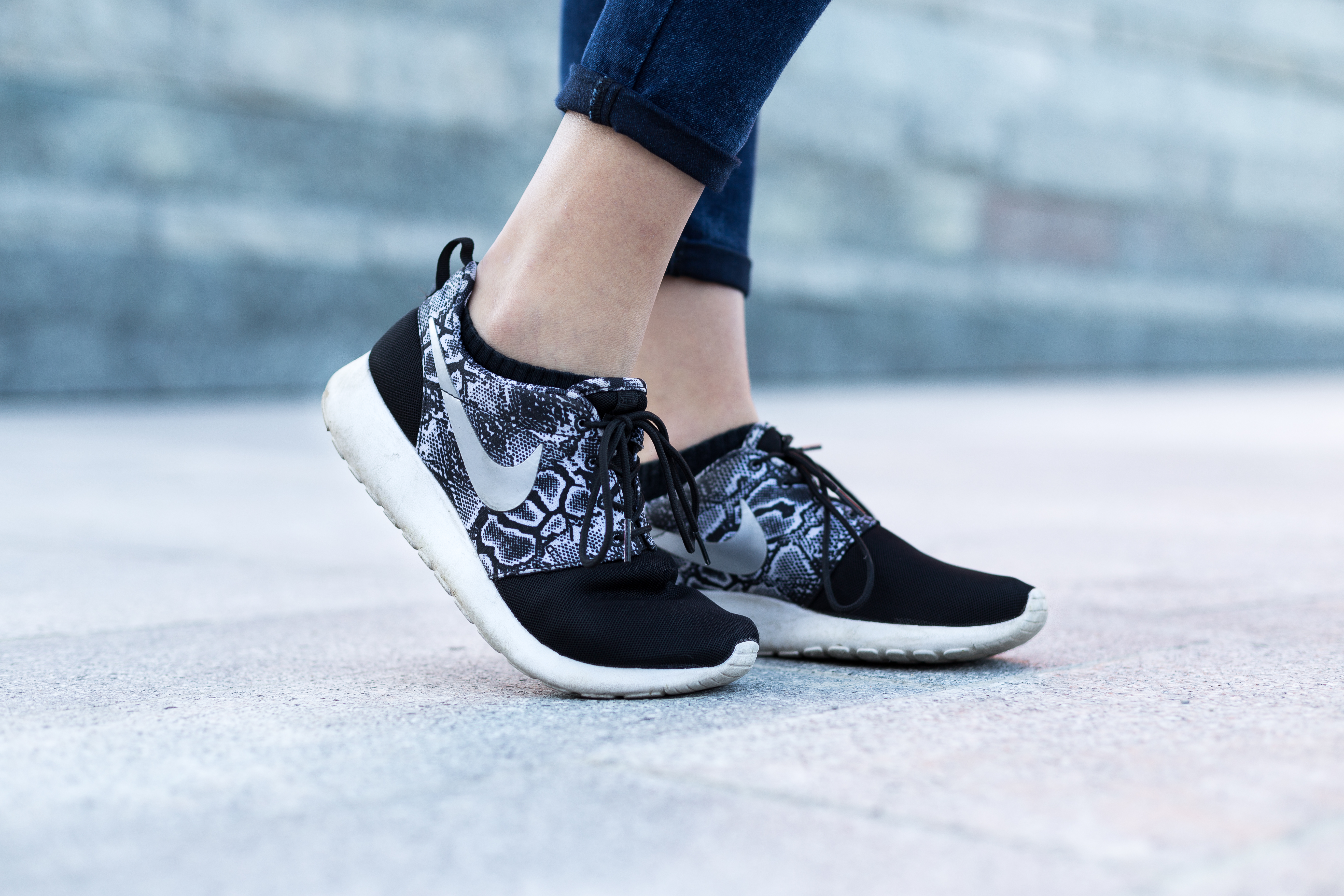 Image Of Peoples Shoes Running