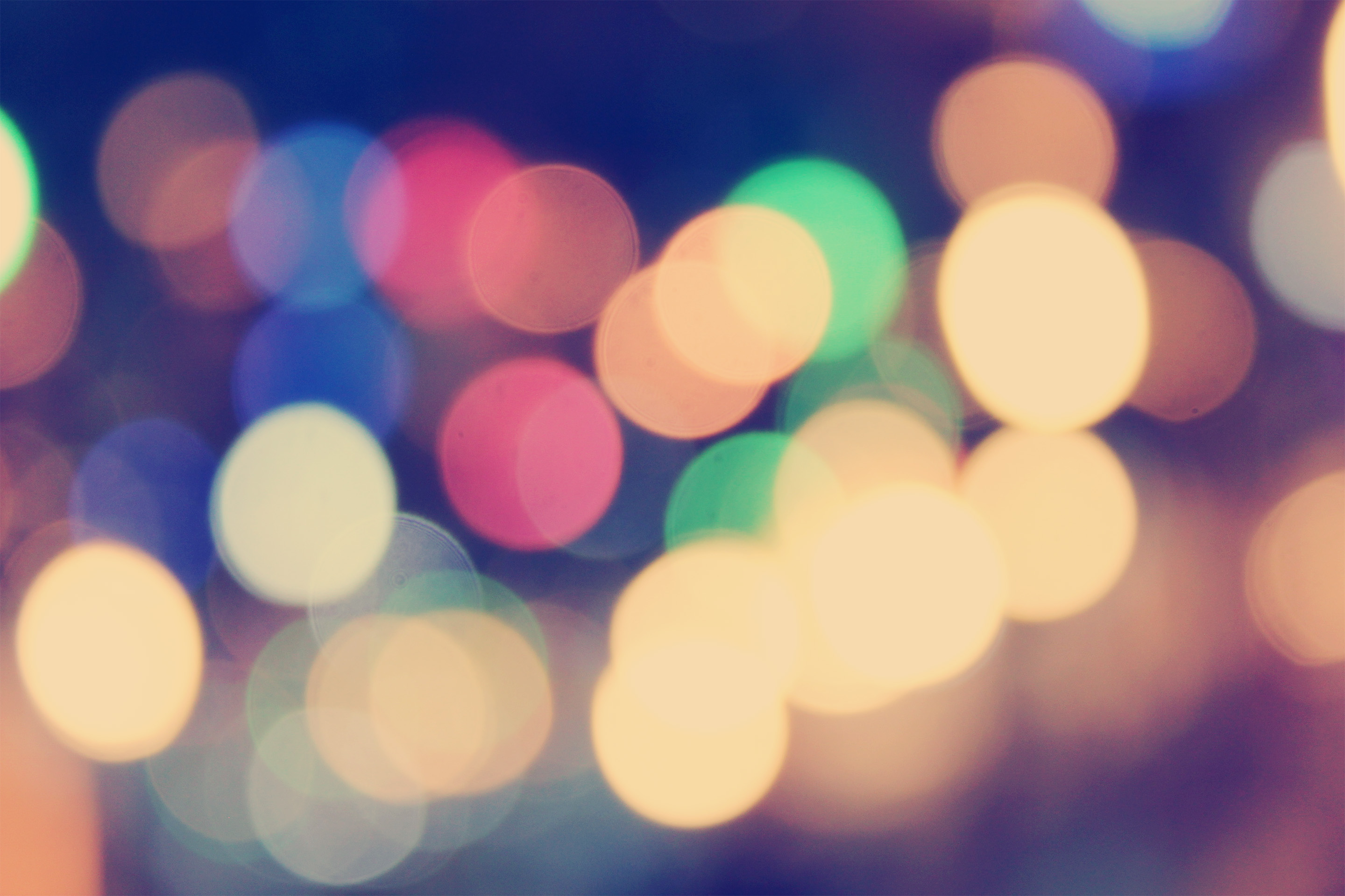 Blurred Lights Background Bokeh