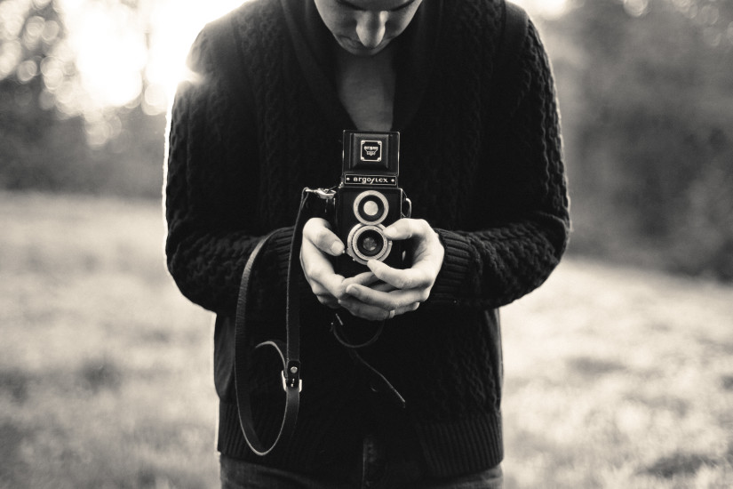 Analog Camera, Argoflex, Black-and-white, Camera, Man, Old