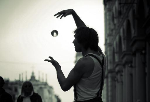 Artist, Black-and-white, Magic, Man