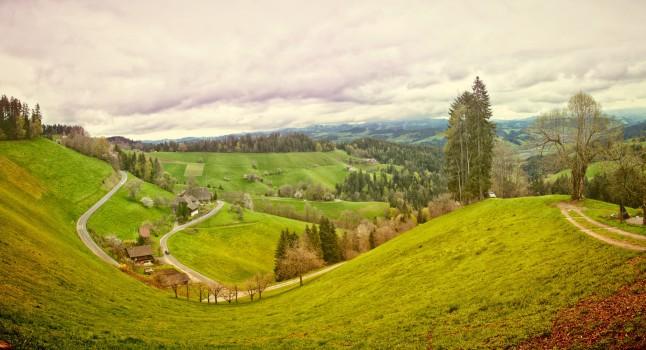 Austria, Clouds, Hills, Landscape