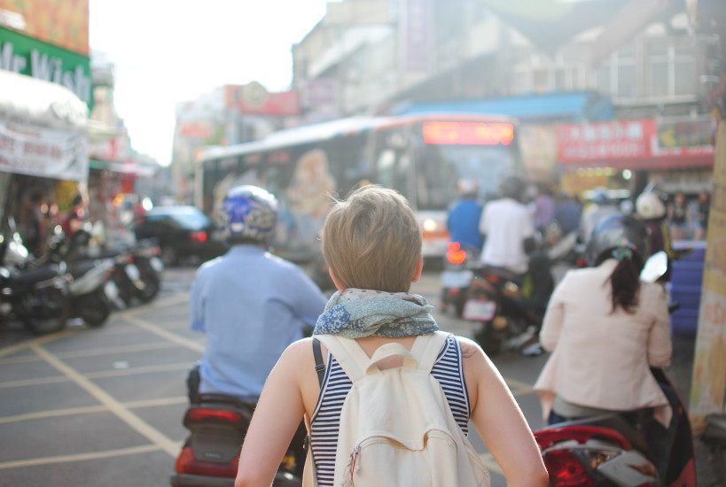 Backpack, Blur, Bus, City, Crowd, Diversity