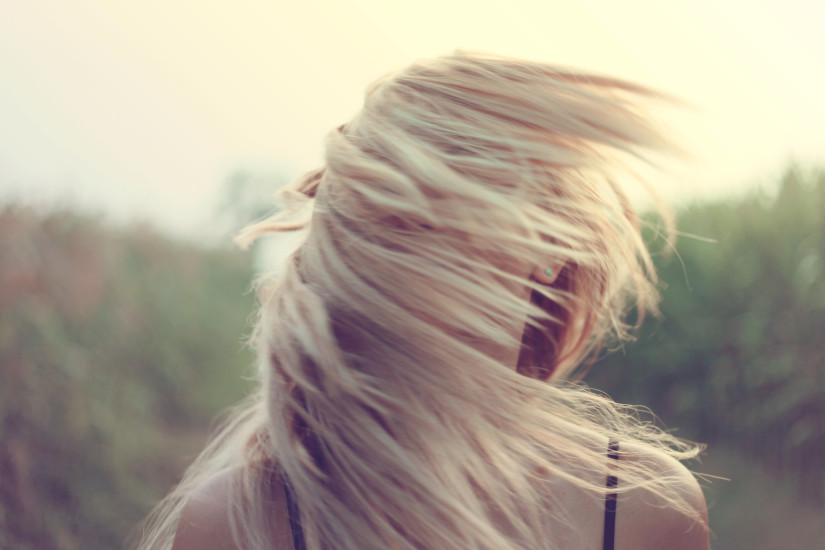 Blonde, Girl, Hairs, Person, Wind, Windy