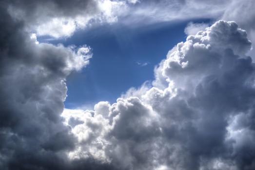 Bleu, Nuages, Nuageux, Ciel