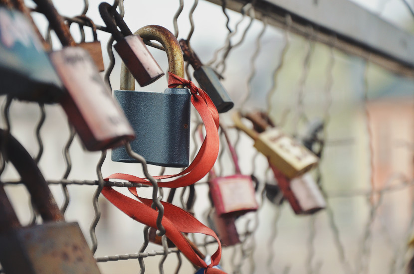 Amour, Bridge, Iron, Locks, Love, Love Padlock