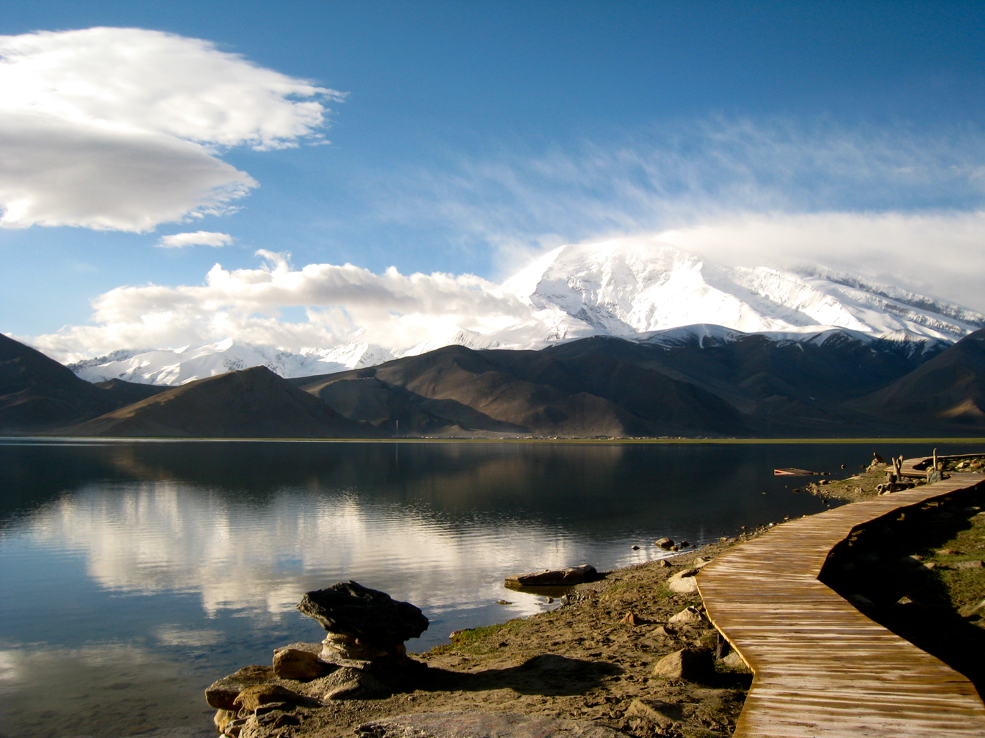 Karakul Lake Permit Clouds Karakul Lake