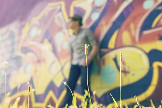 Blur, Graffiti, Man, Person