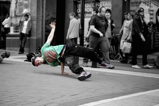 Break Dancer, Street Performer
