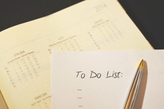 Calendar, Checklist, List, Pen