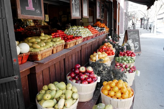 Fruits, Grocery, Street Market