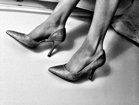 Black-and-white, Shoes, Stiletto, Woman