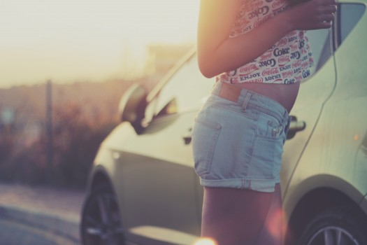 Car, Girl, Model, Person