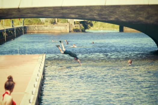Dive, Header, Jump, Lake