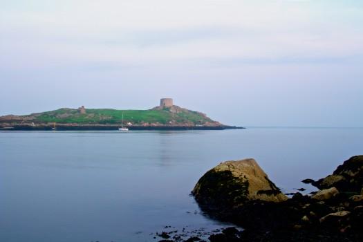 Island, Lake, Sea, Stones