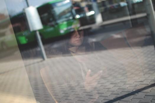 Glas, Inside, Person, Smartphone